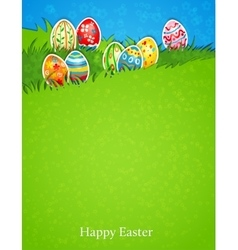 Easter egg in grass vector