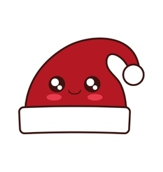 Merry christmas hat isolated icon vector