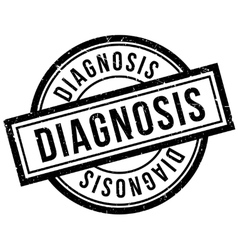 Diagnosis rubber stamp vector