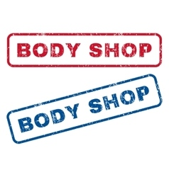 Body shop rubber stamps vector