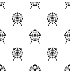 Ferris wheel icon in black style isolated on white vector