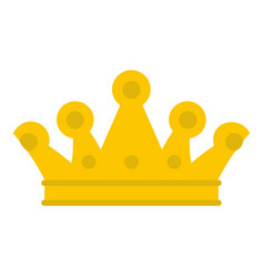 royal crown icon isolated vector image