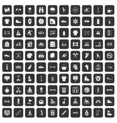 100 sport life icons set black vector