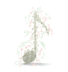 Transparent music note vector