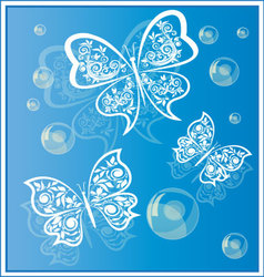 Butterflies background 4 vector