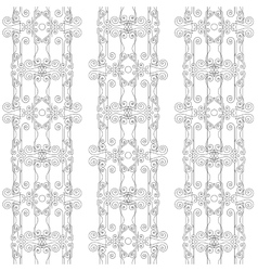 Seamless pattern of elegant flourishes vector