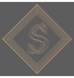 letter S Fonts of Mesh vector image