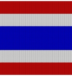 Knitted flag of thailand vector