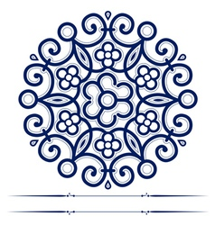 Round lace ornate background in vector