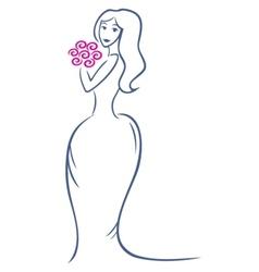 Bride symbol vector image