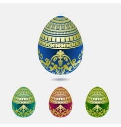 Decorative easter egg colection vector