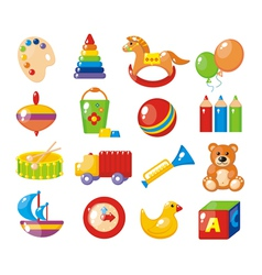 Set of pictures for a kindergarten vector image