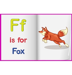 A picture of a fox in a book vector image