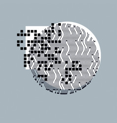 Abstract graphic art geometric vector