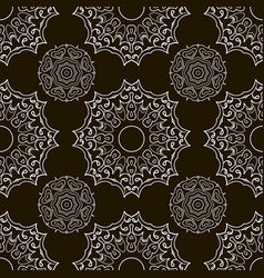 Black and white seamless doodle pattern ethnic vector