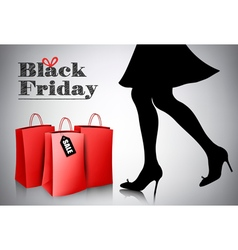 Black friday sale background with elegant shopping vector