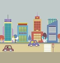 Buildings In The City vector image