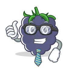 Businessman blackberry character cartoon style vector