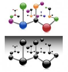 color molecule vector image vector image