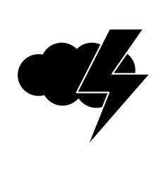 Contour cloud and thunder natural weather vector