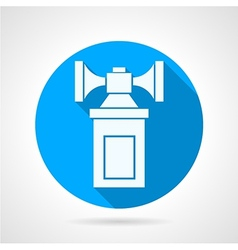 Double air horn flat icon vector image