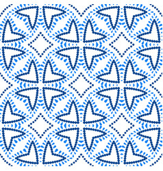 Flower pattern blue beads boho background vector