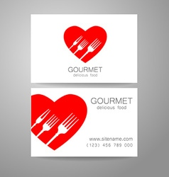 Gourmet food logo vector