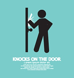 Graphic Of Single Man Knocks on The Door vector image vector image