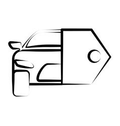 Hand drawing car key sketch vector