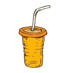 Orange To Go Cup vector image