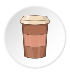 Paper cup for coffee icon cartoon style vector image vector image