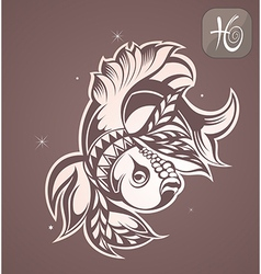 Pisces zodiac vector image