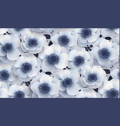 Seamless pattern with flowers anemones vector