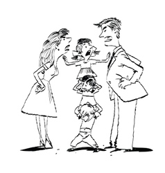 Sketch of a family arguing vector