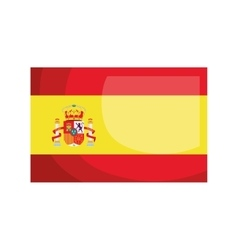 Spanish flag isolated icon design vector