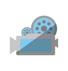 Camera film record movie shadow vector