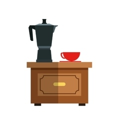 Isolated coffee kettle design vector