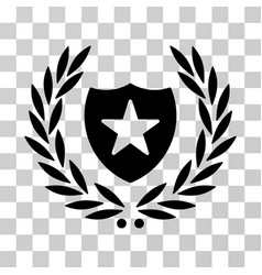 Shield laurel wreath icon vector