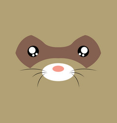 cartoon opossum background vector image