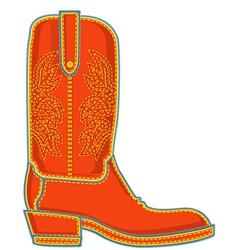 Cowboy boot symbol vector image