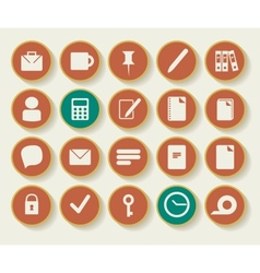 Business and office icons with white background vector