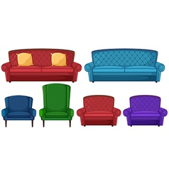 A collection of different chairs vector