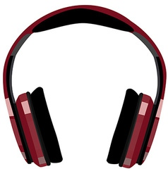 Red headphones vector