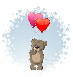 Teddy with love vector