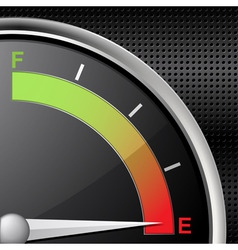 Fuel gauge empty vector