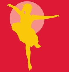 dancing ballerina silhouette vector image