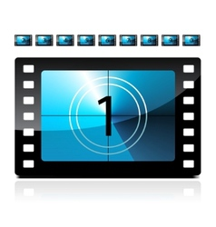 Film count down vector