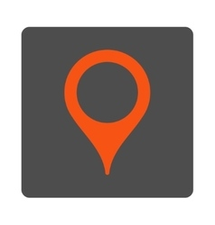 Map marker rounded square button vector