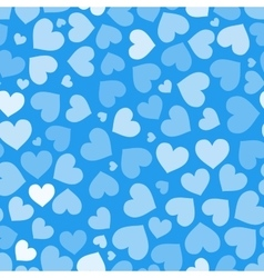 Hearts on blue seamless pattern vector