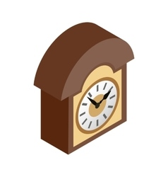 Vintage wall clock icon isometric 3d style vector image